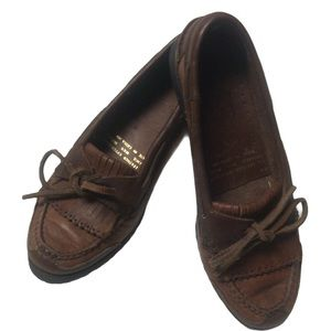 LADIES BROWN LEATHER CASUAL LOAFERS/SHOES
